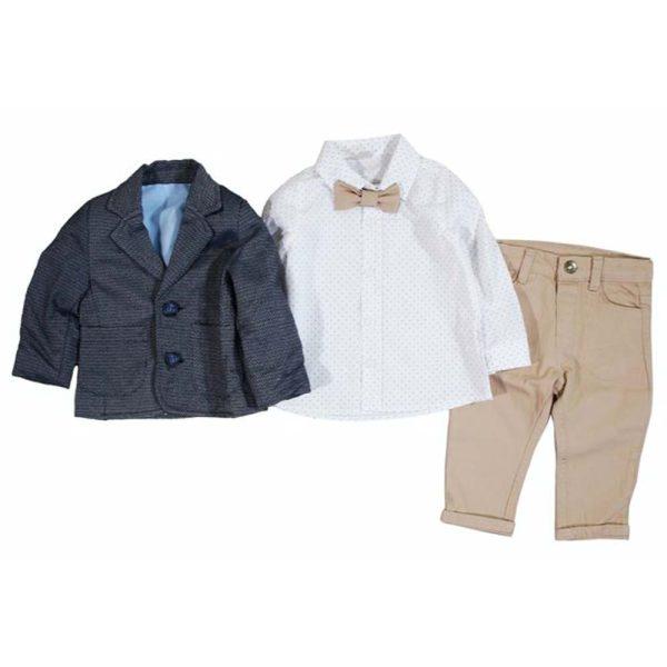 costum elegant pentru baieti sacou camasa pantaloni