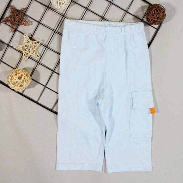 pantaloni albastri elastici pentru baieti