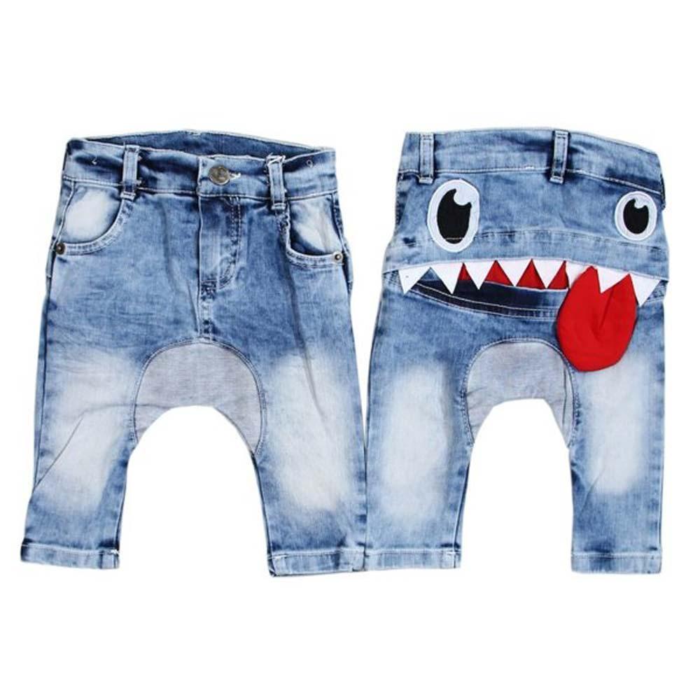 pantaloni amuzanti imprimeu monstru
