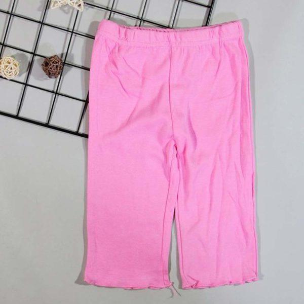 pantaloni bumbac roz fetite