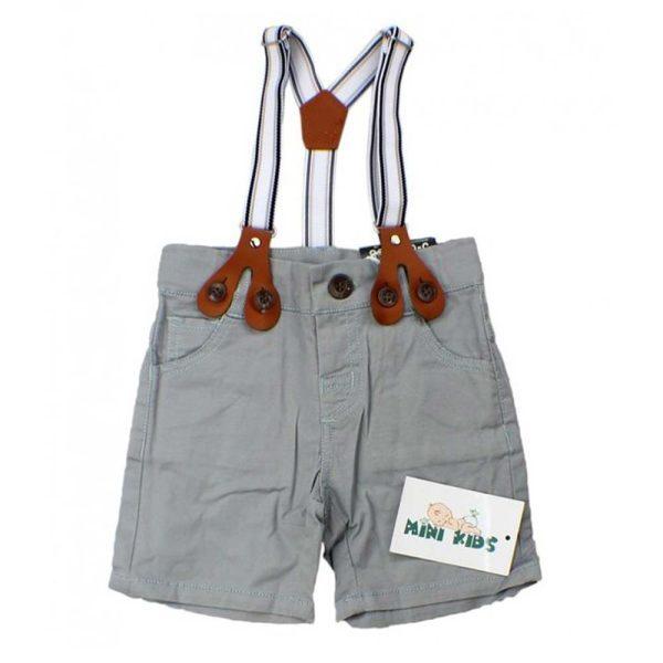 pantaloni scurti gi cu bretele pentru baieti