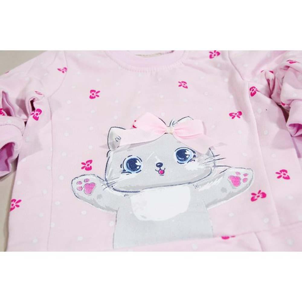 pijama fetite pisi roz