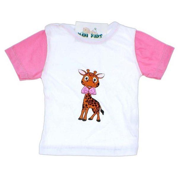 tricou fetite girafa imprimata