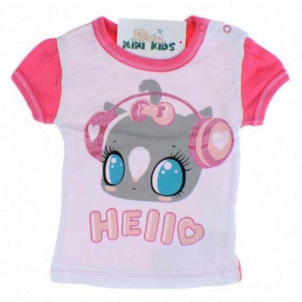 tricou fetite imprimeu pisica