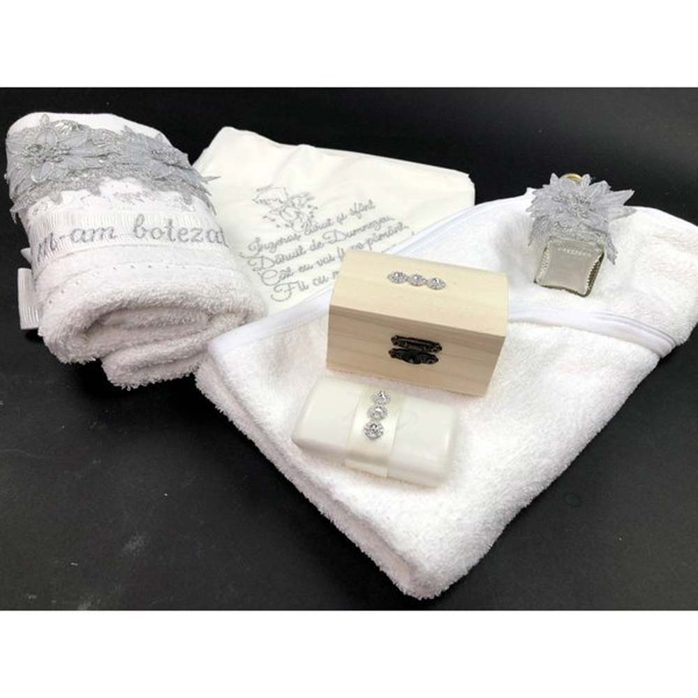 trusou botez fetite mesaj inscriptionat argintiu