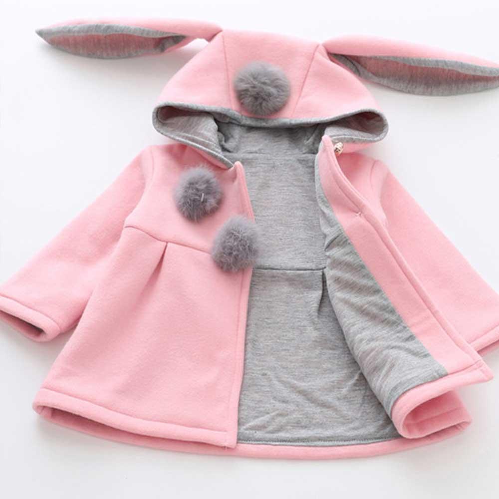Hanorac fete cu urechiuse Iepuras roz