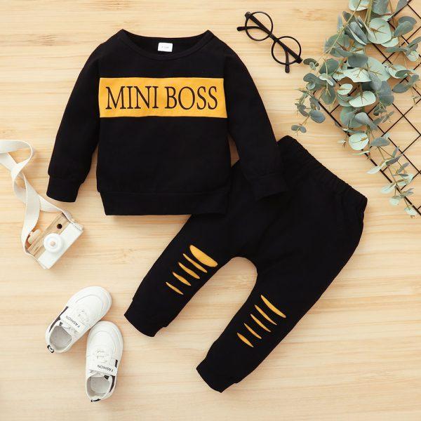 Trening pentru baieti mini boss negru