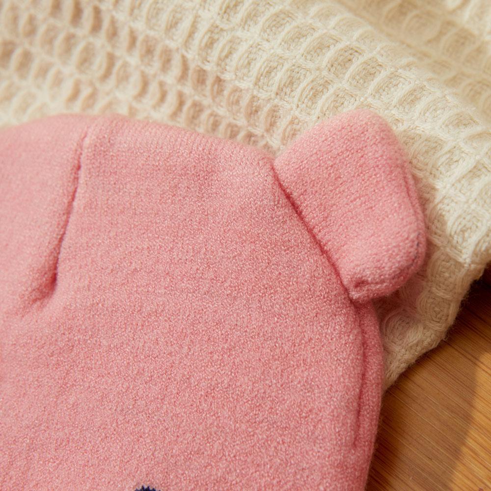 Caciula tricotata bebelusi roz fetite