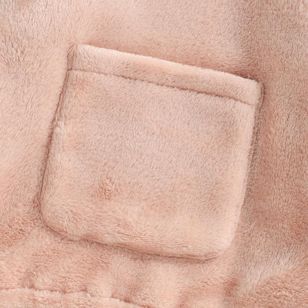 Hanorac fete roz cu buzunar